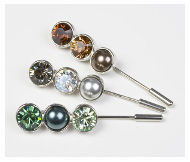Crystal  Pearl StockPins  Dressage Deluxe
